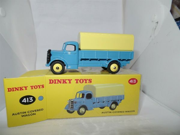 Atlas French Dinky 413 AUSTIN COVERED WAGON Blue BRAND NEW